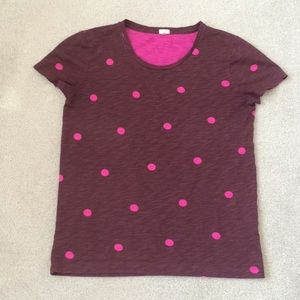 J. Crew Purple and Pink T-Shirt
